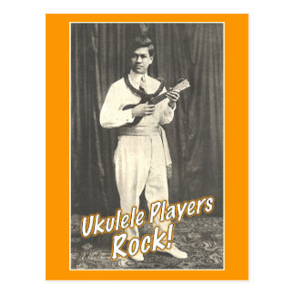 Uke Players Rock Postcard