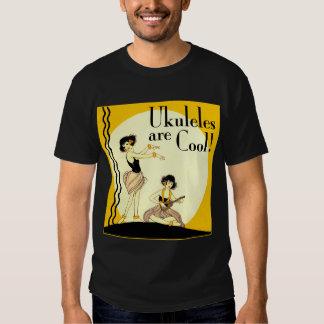 Ukes are Cool! Men's dark short sleeve T-Shirt