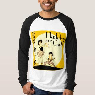 Ukes are Cool! Men's Long Sleeve Raglan Shirt