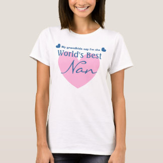 UKEY UGRANDMOTHER World's Best NAN Hearts V05 T-Shirt