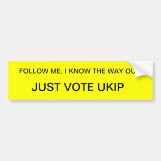 UKIP BUMPER STICKER