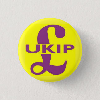 UKIP Party Logo 3 Cm Round Badge