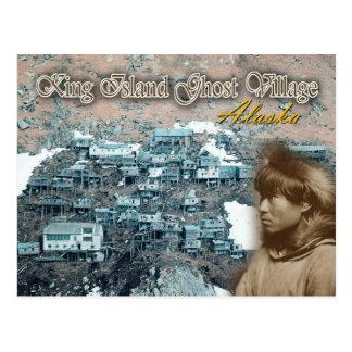 Ukivok Stilt Village, King Island, Alaska Postcard
