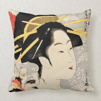 Ukiyo-e Geisha Cushion