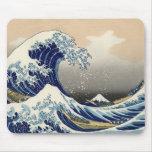 Ukiyo-e - Hokusai's Tsunami Mouse Pad