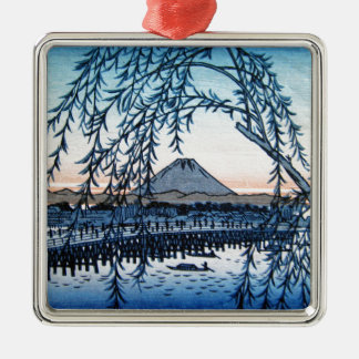 Ukiyo-e Mt. Fuji Japan Christmas Ornament