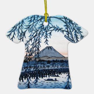 Ukiyo-e Mt. Fuji Japan Ceramic T-Shirt Decoration