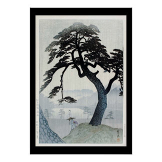 Ukiyo-e Woodblock Art - The Tree Poster