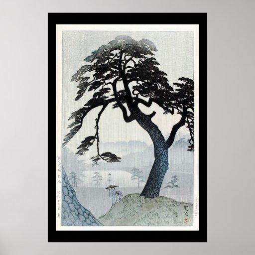 Ukiyo-e Woodblock Art - The Tree Poster