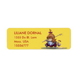 UKOMO CUTE ALIEN  CARTOON Return Address Labels