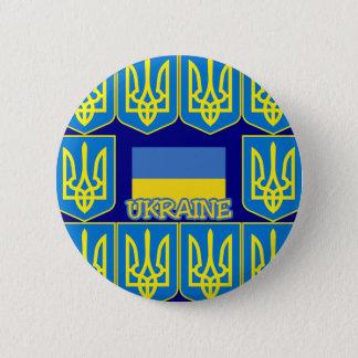 Ukraine 6 Cm Round Badge