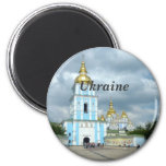 Ukraine 6 Cm Round Magnet