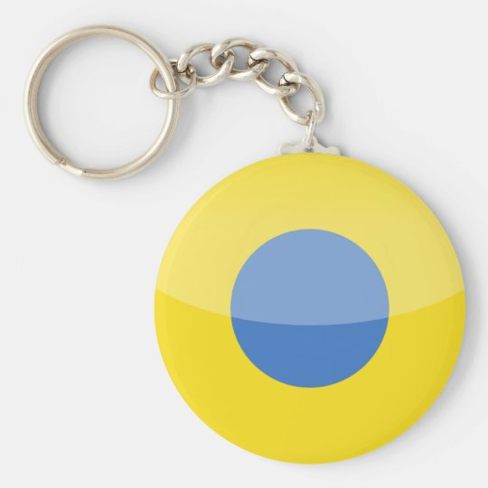 ukraine basic round button key ring