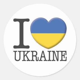 Ukraine Classic Round Sticker