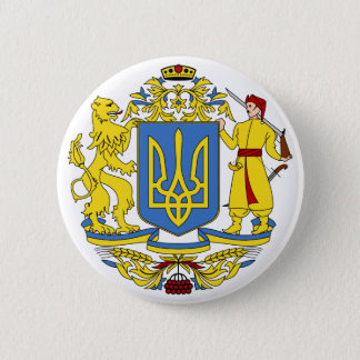 Ukraine coat of arms 6 cm round badge