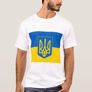 UKRAINE Coat of Arms and Flag T-Shirt