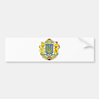 Ukraine coat of arms bumper sticker