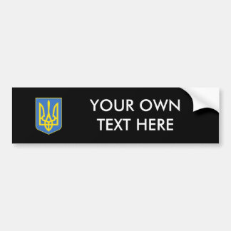 Ukraine- Coat of Arms Bumper Sticker