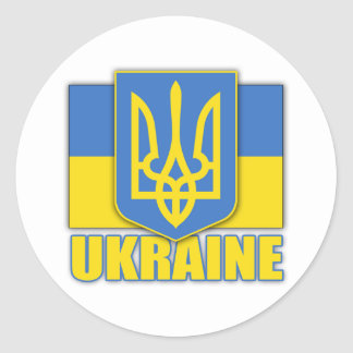 Ukraine Coat of Arms Classic Round Sticker