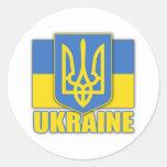 Ukraine Coat of Arms Round Sticker