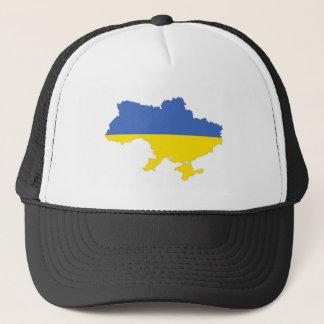 ukraine country flag map shape symbol trucker hat