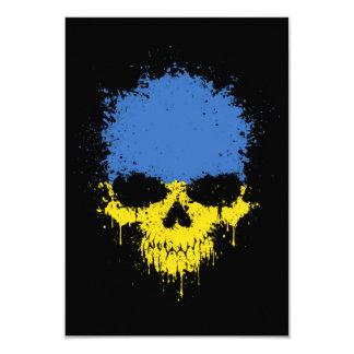 Ukraine Dripping Splatter Skull Announcement