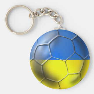 Ukraine Euro 2012 and Brazil 2014 World cup Soccer Basic Round Button Key Ring