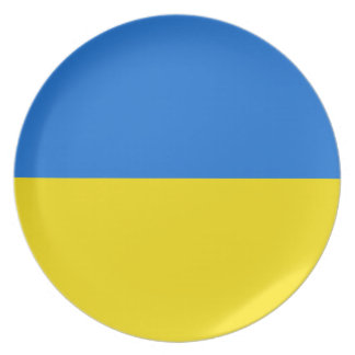 Ukraine Fisheye Flag Plate
