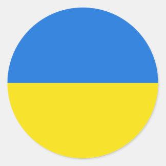 Ukraine Fisheye Flag Sticker