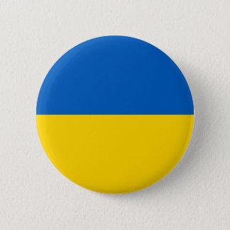 Ukraine Flag 6 Cm Round Badge