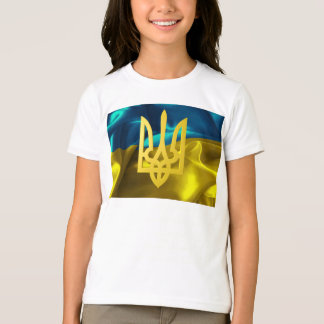 Ukraine Flag and Tryzub Girls' Shirt