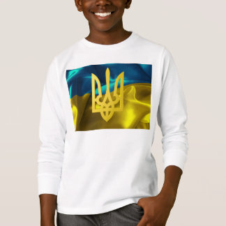 Ukraine Flag and Tryzub Kids' Shirt