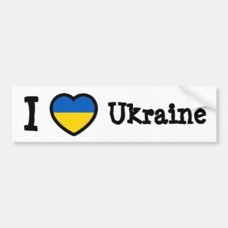 Ukraine Flag Bumper Sticker