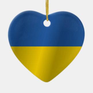 Ukraine flag ceramic heart decoration