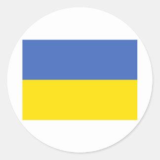 Ukraine flag classic round sticker