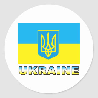 Ukraine Flag Classic Round Sticker