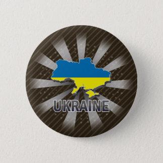 Ukraine Flag Map 2.0 6 Cm Round Badge