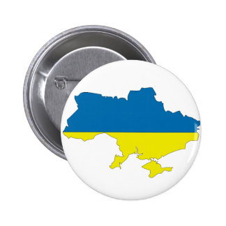 Ukraine flag map 6 cm round badge