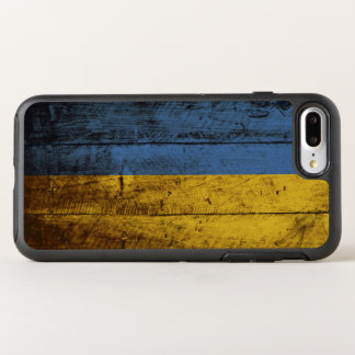 Ukraine Flag on Old Wood Grain OtterBox Symmetry iPhone 8 Plus/7 Plus Case