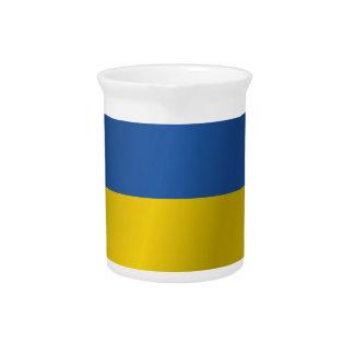 Ukraine flag pitcher