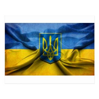 UKRAINE FLAG POST CARDS