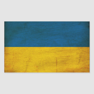 Ukraine Flag Rectangular Sticker