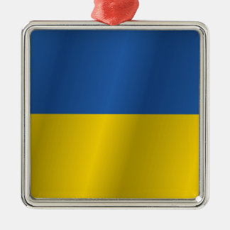 Ukraine flag Silver-Colored square decoration