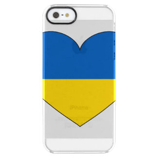 Ukraine Flag Simple Clear iPhone SE/5/5s Case