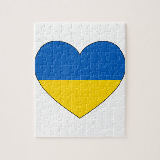 Ukraine Flag Simple Puzzle