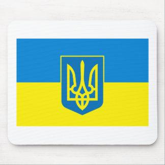Ukraine Flag w COA Mousepad