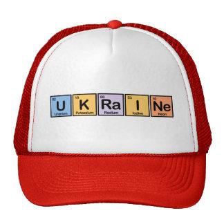 Ukraine made of Elements Trucker Hats
