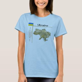 Ukraine Map + Flag + Title T-Shirt
