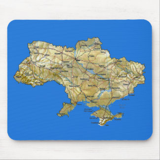 Ukraine Map Mousepad