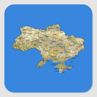 Ukraine Map Sticker